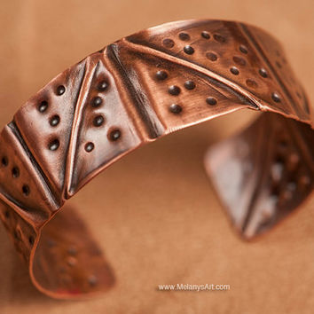 Light Weight Folded Copper Bracelet