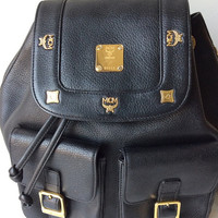MCM Large Backpack with buckles