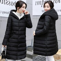Artificial cashmere Parkas Female Women Winter Coat Thickening Cotton Winter Jacket Womens Outwear Parkas for Winter Outwear