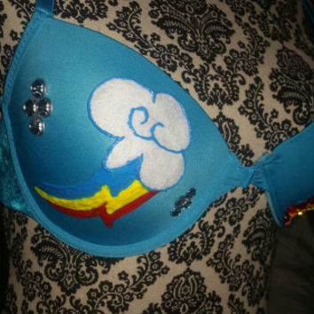 Rainbow Dash Cosplay,  Rave Bra*FREE Shipping* EDC Bra, Festival Bra, My Little Pony Cosplay
