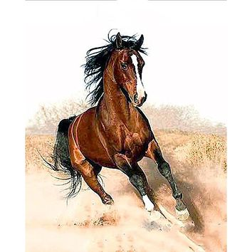 Frameless Running Horse Animals DIY Painting By Numbers Acrylic Canvas Painting Wall Art Picture Modern Home Decor 40x50cm Art