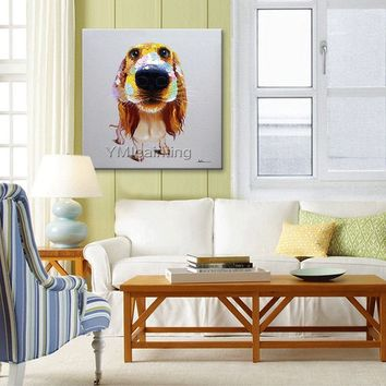 Dog painting On Canvas abstract painting acrylic painting Wall Art pictures for living room home decor original painting hand-made animal