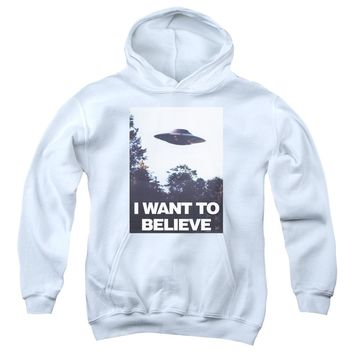 X Files - Believe Poster Youth Pull Over Hoodie