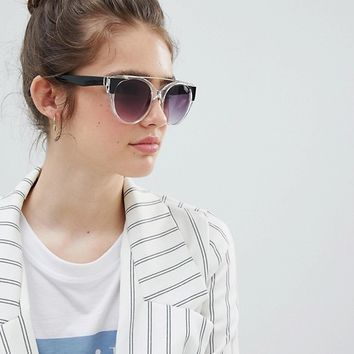 AJ Morgan clear frame sunglasses with faded lens at asos.com