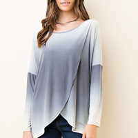 Wrap Style Ombre Top