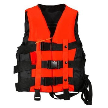 S-XXXL Sizes Polyester Adult Life Jacket Men Women Universal Swimming Boating Ski Surfing Survival Foam Life Vest with Whistle