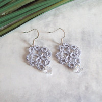 Lace Fashion Tatted Earrings - Alexandra