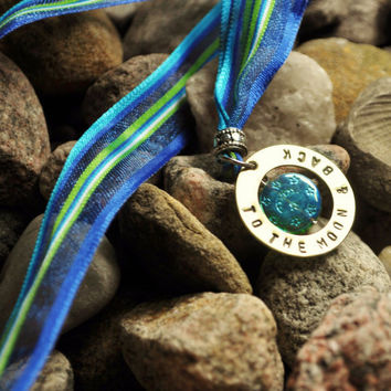 Personalized Bookmark or Necklace To The Moon by TatumBradleyCo