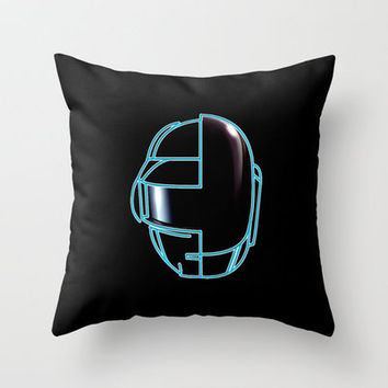Daft Punk Throw Pillow by Jason Michael