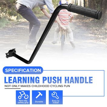 Bike Trainer Bicycle Trainer Children Cycling Bike Safety Balance Push Bar Kids Learning Push Handle bar Cycling Accessory
