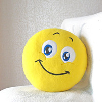 Smile, Smiley, Smiley face, emoticon, smile sign, smile pillow, geekery pillow, geek pillow , icon pillow, geeky pillow, smile cushion