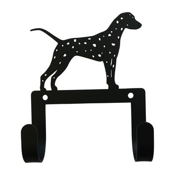 Wrought Iron Dalmatian Dog Leash & Collar Wall Hook