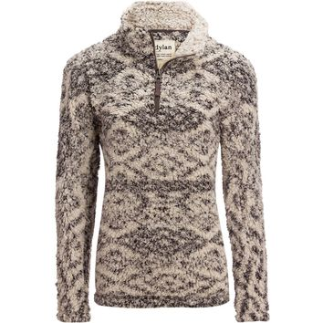 Patterned Frosty Tipped Pile Stadium Pullover - Women's