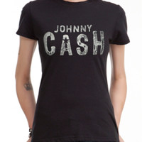 Johnny Cash Logo Girls T-Shirt