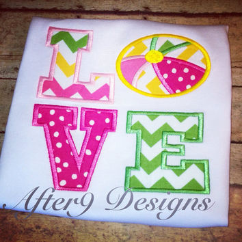 Applique personalized LOVE beach ball by AfterNineDesigns on Etsy