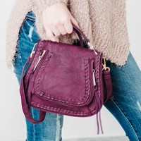 Mini Durango Leather Crossbody Bag | Dark Muave