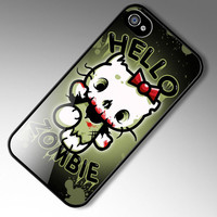 iPhone 4 case Hello Zombie Hello Kitty Parody by Nifteez on Etsy