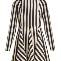 Striped wool and silk-blend dress | Valentino | MATCHESFASHION.COM UK