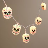 Day of the Dead Skull 10-Bulb String Lights