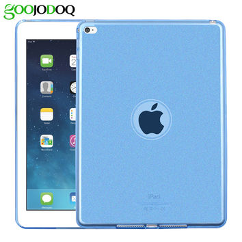 Case For iPad Air 1 / Air 2 ( Ipad 5 6 ) Silicone Soft Cover Glitter Shell Protector For Apple iPad Mini 1 2 3 Retina Bling Back