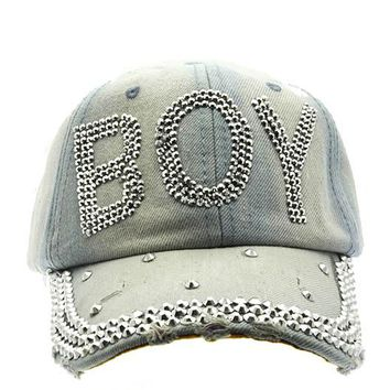 The Boy Tie-dye Rhinestone Jean Cap