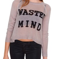 Wasted Mind Sweater Top - Gray