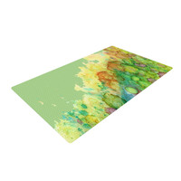"Rosie Brown ""Sea Life"" Green Yellow Woven Area Rug"