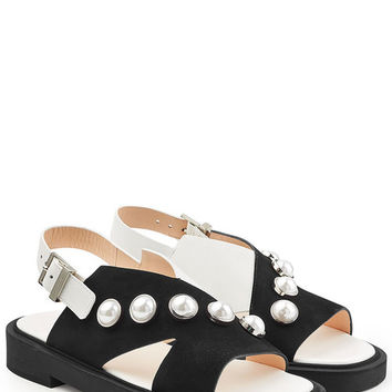 Studded Suede Sandals - Carven | WOMEN | US STYLEBOP.COM