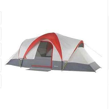 Ozark Trail Weather-buster 18' x 10' Dome Tent, Sleeps 9 New Camping Hiking Red
