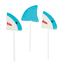 Shark Themed Lollipops: 12-Piece Box