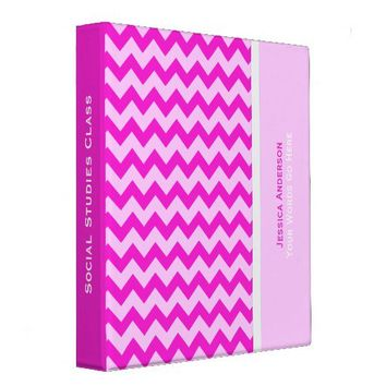 Personalized: Pink Chevron Binder from Zazzle.com