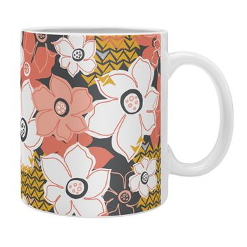 Heather Dutton Petals And Pods Lava Coffee Mug