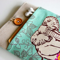 Elephant iPad Mini Case Cover Padded 7 inch Tablet Sleeve with Pocket