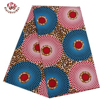 2017 Ankara African Polyester Wax Prints Fabric Super Hollandais Wax High Quality 6 yard African Fabric for Party Dress BRW318