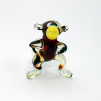 Glass Monkey Glass Figurine Monkey Figurine Glass Figurine Glass Animal Sculpture Glass Art Monkey Figure Monkey Figure Monkey new year(m07)