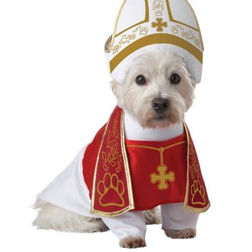 Holy Hound Dog Costume (X-Small,Red/White)