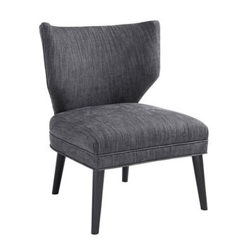 Adley Armless Retro Wing Accent Chair