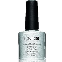 Creative Nail Shellac Silver Chrome, 0.25 Fluid Ounce
