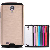 For Samsung S4 Phone Cases With Logo Ultra Thin Luxury Aluminium Brush Hard Case For Samsung Galaxy S4 I9500 Super Cool Cover
