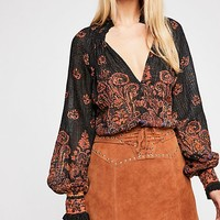 FP One Smocked Paisley Top