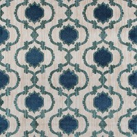 2267 Ivory/Blue Moroccan Trellis Area Rugs