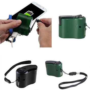 Battery Power Bank Charger Generator Hand-Powered Generator Emergency Dynamo Portable Compact 600mA DC 5.5 V Mobile Phone