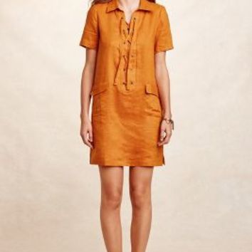 Maeve Lace-Up Linen Dress