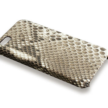 iPhone 5S case - beige python