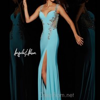 Plunging Sweetheart Angela & Alison Formal Prom Gown 51048