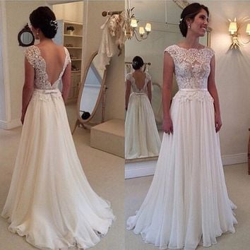 Elegant Women Lace Evening Party Prom Gown Long Maxi Dress