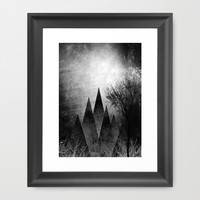 TREES VIII Framed Art Print by Pia Schneider [atelier COLOUR-VISION]