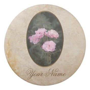 Vintage design. Photo of pink roses. Add your text Eraser