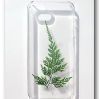 Handmade iPhone 5 case Resin with Nature Fern by Annysworkshop