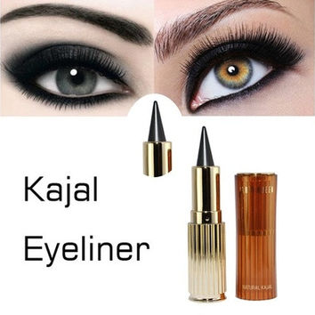 Golden Cat Eyes Kajal Eyeliner Thick Black Waterproof Solid Eyeliner Makeup Ultra Long Lasting Gel Pencil [8833593420]